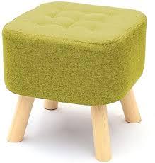 MWPO Square Footstool Ottoman Linen Fabric Pouffe ... - Amazon.com