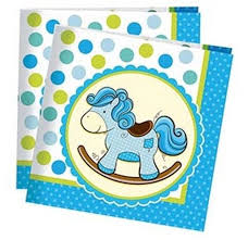 <b>Пати Бум Салфетки</b> Лошадка Малыш цвет <b>голубой</b> 20 шт ...