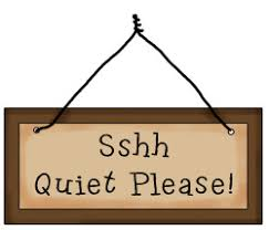 Image result for quiet sign