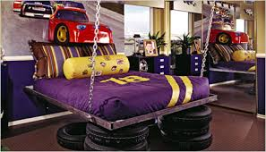 cheap kids bedroom ideas: car themed room for an older child sophisticated boys