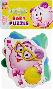 <b>Vladi Toys</b> Мягкие пазлы Baby puzzle Смешарики Нюша, Бараш ...