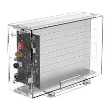 <b>Transparent Series</b> Dual-Bay 3.5 inch Type-C Portable Hard Drive ...