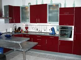 floor modern kitchen red cabinets modern fierce dark red kitchen cabinet with gray granite countertop wh
