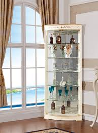 Dining Room Corner Cabinets Dining Room Display Furniture Wine Corner Cabinet With Glass Door
