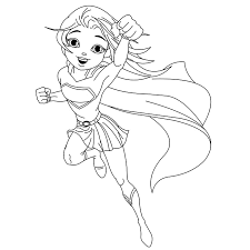Small Picture Girl Superhero Coloring Pages fablesfromthefriendscom