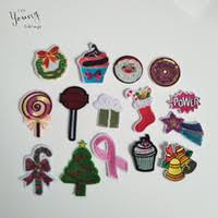 christmas patches iron on embroidered appliques apparel for clothing 20 pcs lot
