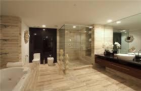 master modern bathroom design with built in bathtub and large mirror above single sink wall bathroom recessed lighting bathroom modern