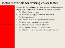 yours sincerely mark dixon cover letter sample 4 police officer cover letters