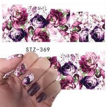 Водные Переводные <b>наклейки для ногтей</b>, 1 шт., фиолетовые ...