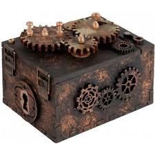 <b>Шкатулка с секретом Gearbox</b> под нанесение - цвет коричневый ...