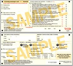 Image result for incoming passenger card