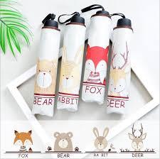TECHOME Owl <b>Rabbit Bear Deer</b> Fox Umbrella Rain Women ...