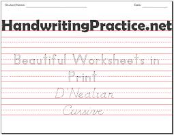 Beautiful <b>Handwriting</b> Practice Worksheets