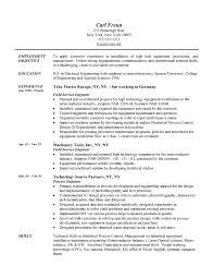Field Engineer Resume Example  Engineering Sample Resumes Related Free Resume Examples  Engineer Resume