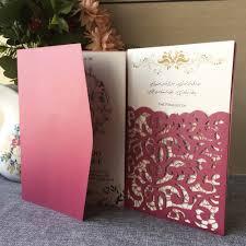 <b>40Pcs</b>/<b>Lot</b> New Arrival Laser Cut Carved Wedding Invitations Tri ...