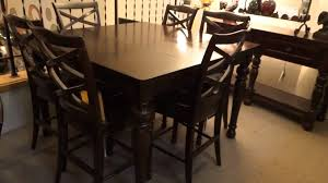 dining room pub style sets: distressed counter height dining table room high top tables rustic counter