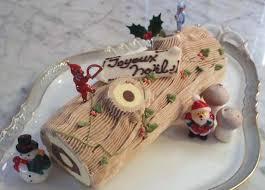 Bûche de Noël (boomstam van koekjes en slagroom)
