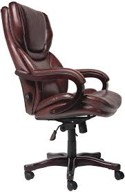 amazoncom serta 43506 bonded leather big tall executive chair brown kitchen dining big office chairs executive office chairs