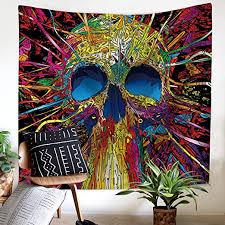 3D Cartoon <b>Skull</b> Tapestry <b>Halloween</b> Decor <b>Gothic Skull</b> Tapestries ...