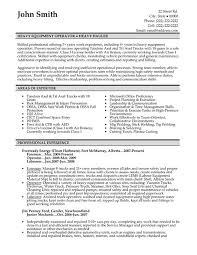 heavy equipment operator resume sample resume heavy equipment operator