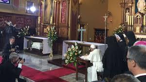 Znalezione obrazy dla zapytania papież franciszek w łagiewnikach