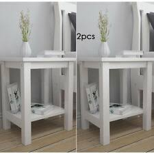 Side Table X <b>2</b> in <b>Bedside Tables</b> & Cabinets for sale | eBay