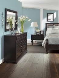 Paint Schemes For Living Room With Dark Furniture Habitacion Con Muebles Marra3n Oscuro O Negro En Color Celeste Y El