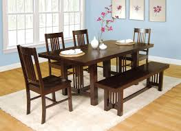 small dining tables sets: heres a very solid dining set with bench table can be extended with a center
