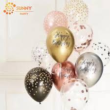 <b>10pcs</b> Printed Happy Birthday Balloons <b>12inch Metallic Latex</b> ...