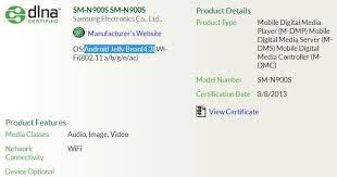 Samsung Galaxy Note III(SM-N900S/SM-N900K/SM-N900L) clears ...