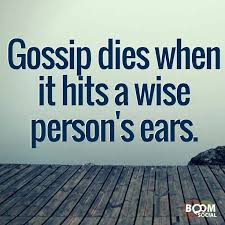 Image result for gossip don't pass it on poster