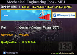 utc aerospace systems hiring be btech mechanical freshers as as a design engineer in performance team he she will be involved in modeling simulations and performance evaluations