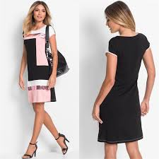 <b>Patchwork Summer</b> Short Sleeve Mini <b>Dress</b> – AR <b>Fashion</b>