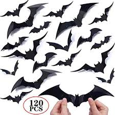 120PCS/4SIZE 3D Bats Sticker DIY Halloween Party ... - Amazon.com