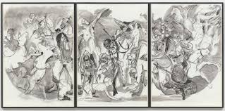 unfinished conversations an essay moma ldquo40 acres of mules rdquo 2015 charcoal on three sheets of paper the museum of modern art new york acquired through the generosity of candace king weir