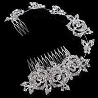 Wholesale <b>Luxury</b> Silver <b>Rhinestone Crystal</b> Crown Tiara - Buy ...