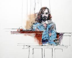 library of congress acquires four decades of courtroom art charles manson on the stand 1970 illustrated by bill robles courtesy library