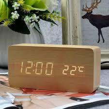 <b>Wooden LED Alarm Clock</b> — GoodsVine