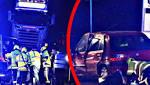 Photos show dramatic rescue operation at black spot crash