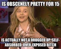 is obscenely pretty for 15 is actually not a drugged up, self ... via Relatably.com