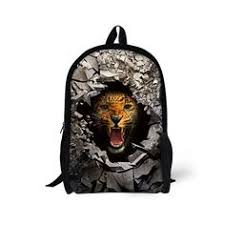 <b>FORUDESIGNS Children Boys</b> Backpack <b>3D</b> Zoo Animal Bagpack ...