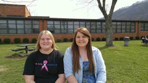 kingsport times news two gate city high school juniors raising gate city high school juniors destiny hatfield left and abbie quillen right