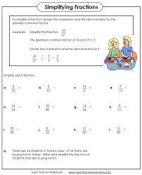 Fraction WorksheetsSimplifying Fractions Worksheet