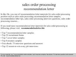 sales order processing recommendation letter In this file  you can ref recommendation letter materials for     SlideShare