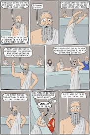 existential comics the apology baring the aegis in short socrates would have lived if he had kept his mouth shut and the comic i d like to share today pretty much nails socrates attitude