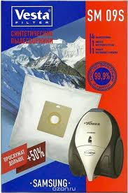 <b>Vesta filter</b> SM 09 S <b>комплект пылесборников</b>, 4 шт + 2 фильтра ...