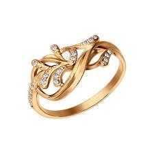 <b>Позолоченное кольцо</b> с фианитами <b>SOKOLOV</b> – купить в ...