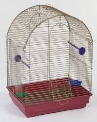 "Клетка полукруглая для птиц ""Lusy"" (хром), комплект, 30х42х65 ..."
