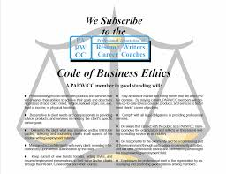 Code of Ethics ACS Professional Resume Writers