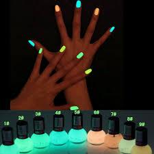 Non-toxic Neon <b>Fluorescent</b> Luminous oil matte nail polish <b>candy</b> 12 ...